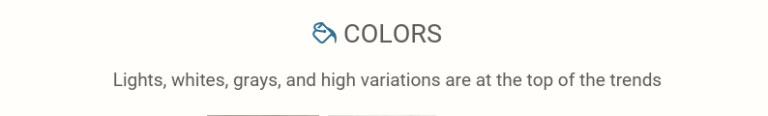 Flooring trends: colors