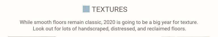 Flooring trends: textures