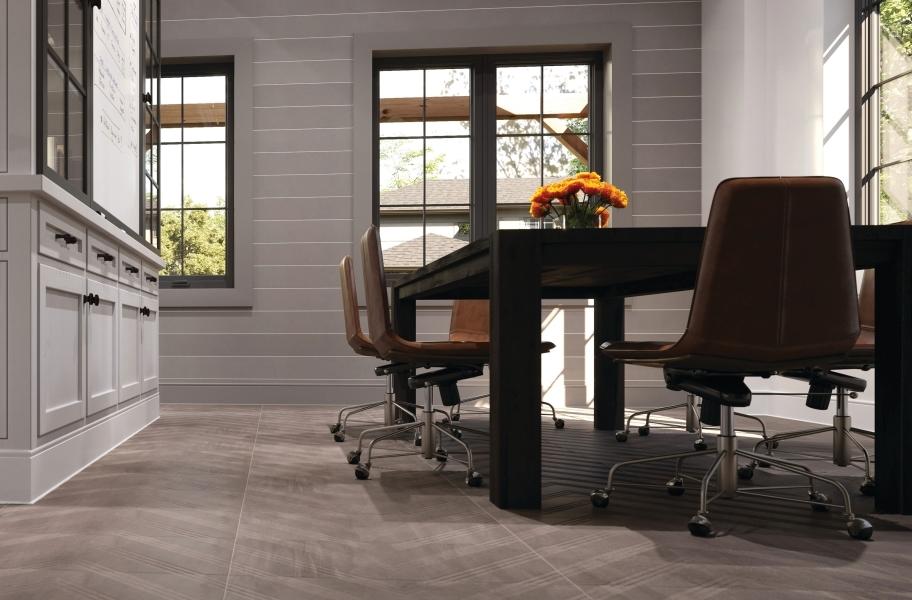 Chevron pattern floor tile