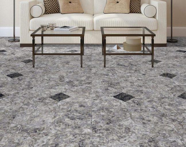 stone-look vinyl tiles
