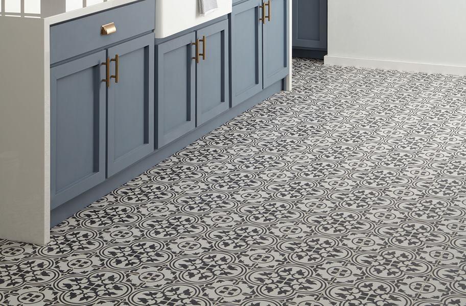 FlooringInc patterned tile in a kitchen setting