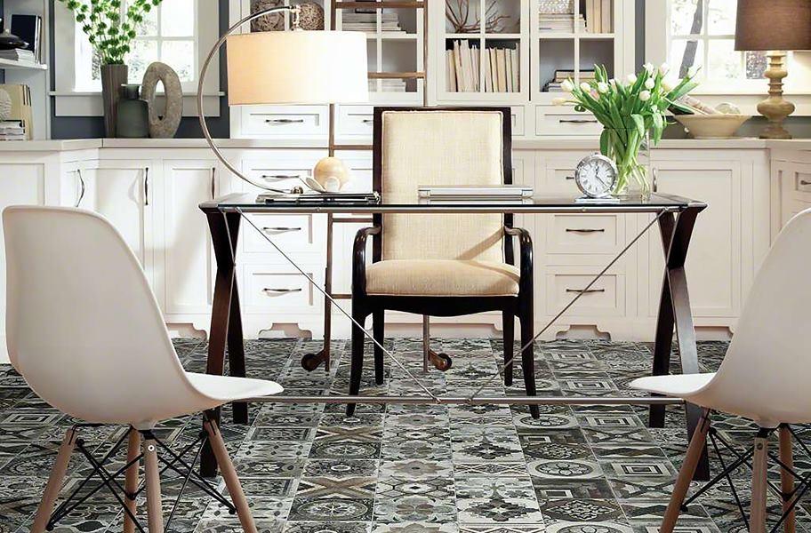 FlooringInc art deco floor tile in an office setting