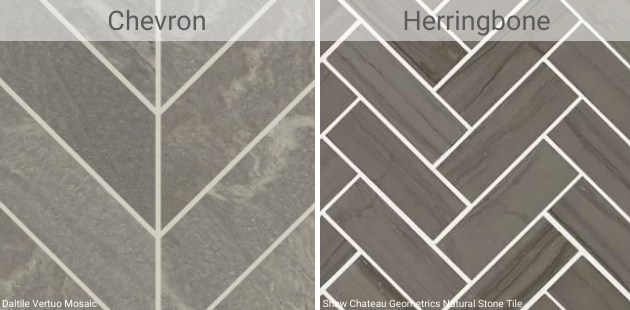 tile herringbone vs. chevron