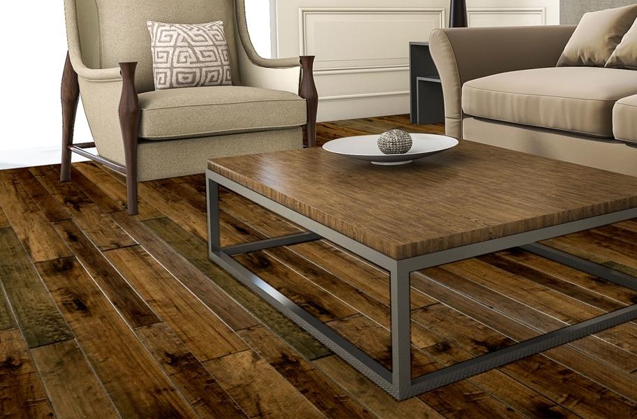 FlooringInc 2020 flooring trends: engineered wood flooring in a living room setting