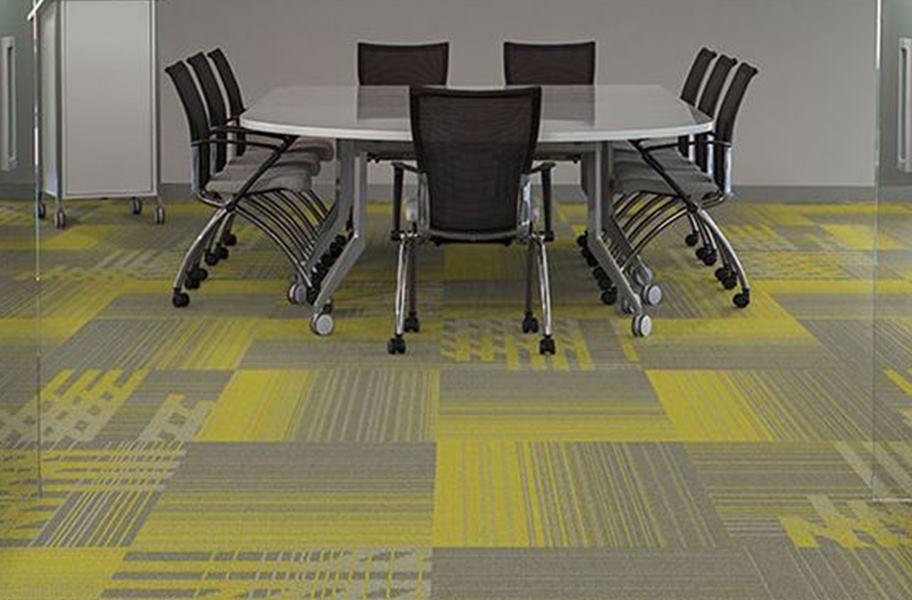 Bold Carpet Colors- Fluid Carpet tile