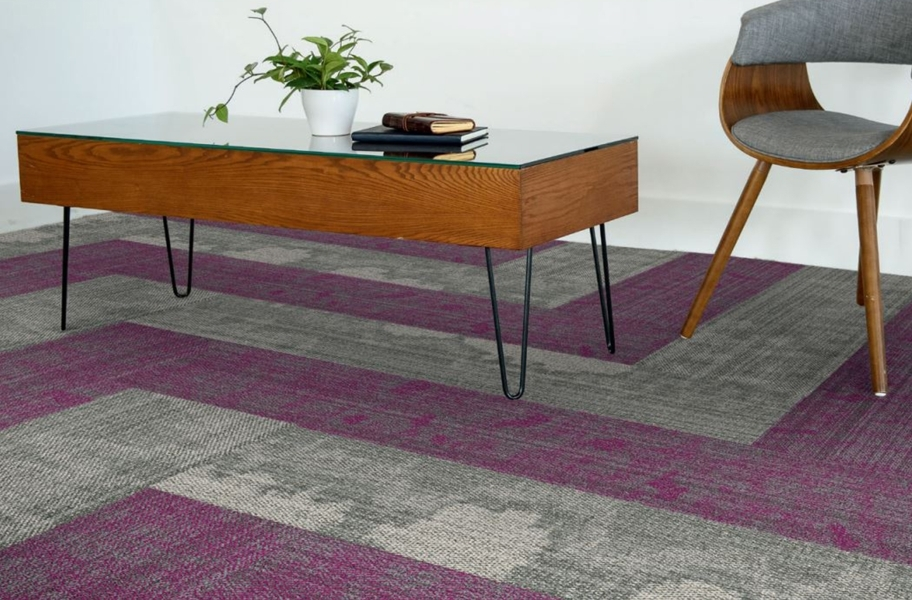 Carpet Plank Layout: EF Contract Seep Carpet Planks
