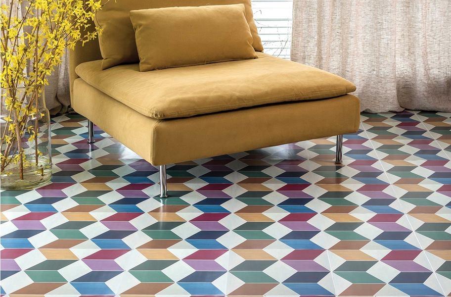 Decorative peel and stick tile