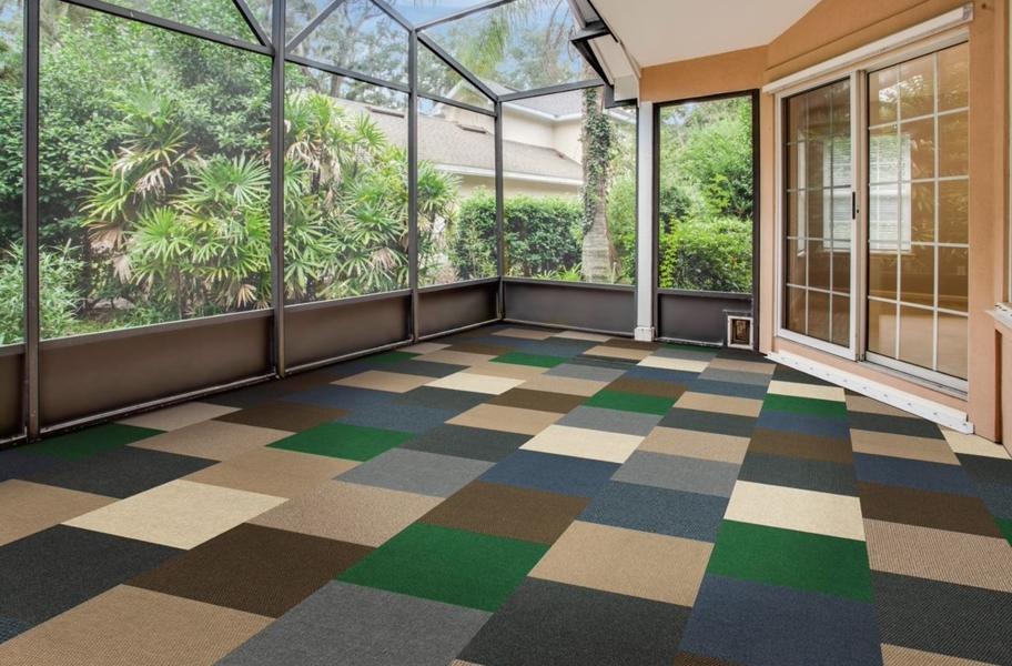 Peel and stick carpet tile