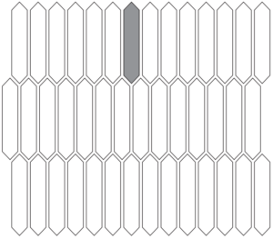 Picket shaped tile layout
