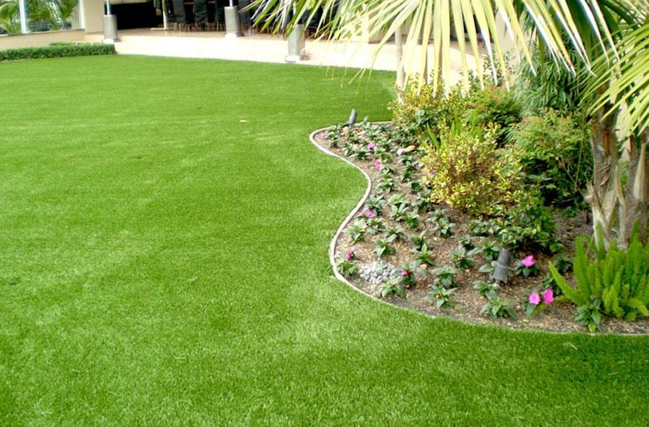 Newport elite artificial grass in a commercial setting.