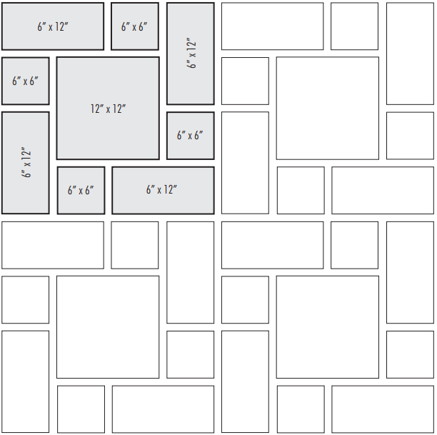 Tile patterns: soldier tile layout