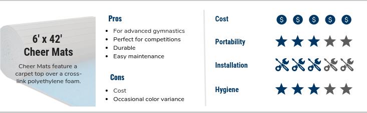 FlooringInc best gymnastics mats - 6' x 42' Cheer Mats