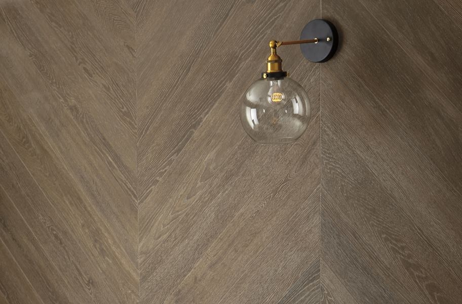 close up view of wood-look wall tile