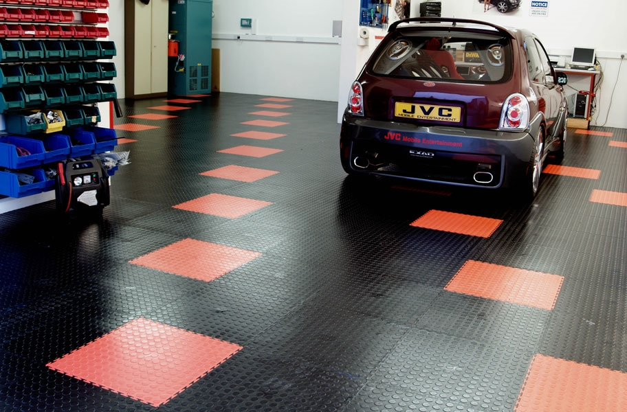 Coin Flex TIles-Garage Flooring Stains