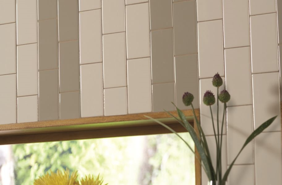 Accent Wall Ideas: striped accent wall made from wall tile