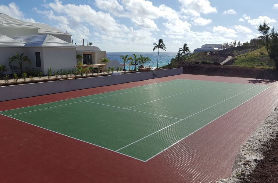 Court flooring installation guide: Mateflex II court tiles in an outdoor court