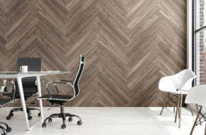 She Shed wall treatment: WallGrip Peel & Stick Vinyl Wall Tiles