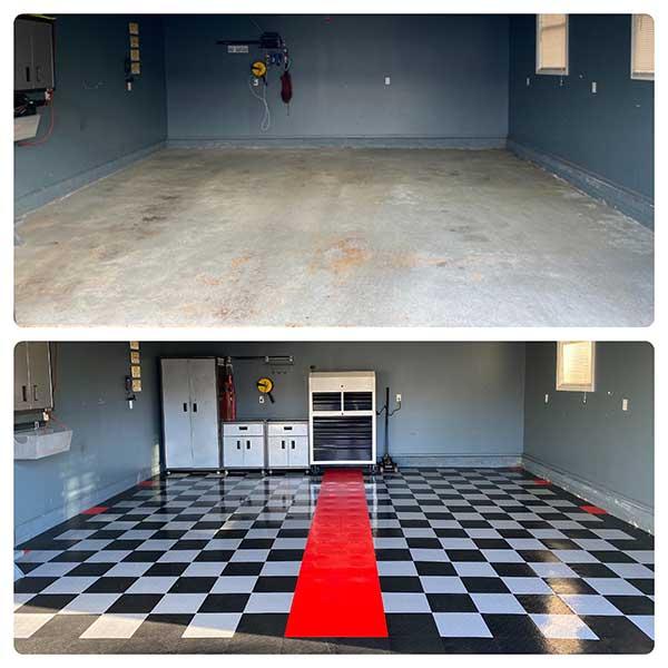 DIY Flooring Solutions: Nitro Tiles garage upgrade