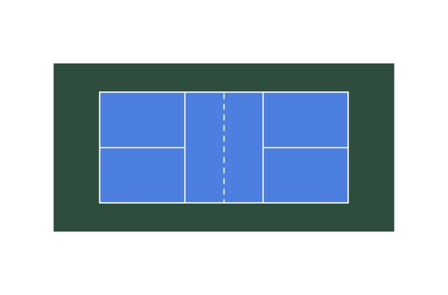 Pickleball Court Outline