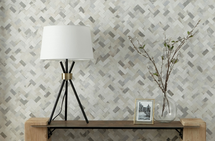 Backsplash tile trends: grout-free backsplash tile