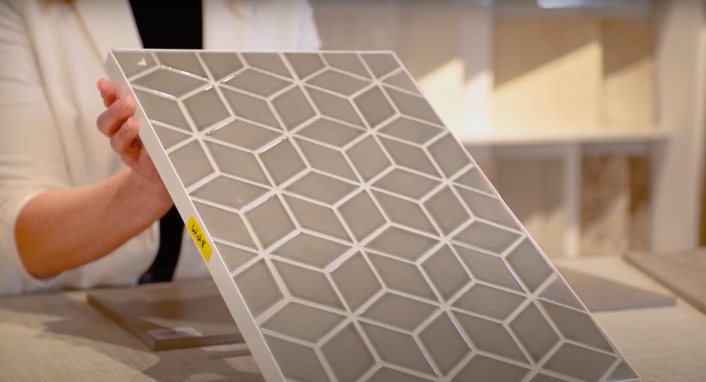 How to choose grout color: Geometric tile with contrasting grout