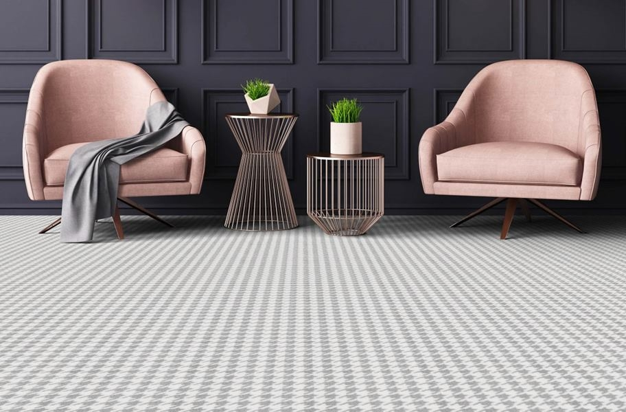 Carpet FAQ: geometric broadloom carpet