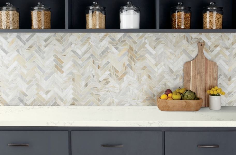 Backsplash trends: marble-backsplash tile