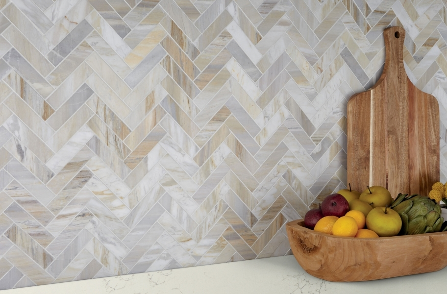 Backsplash Buying Guide: Natural stone backsplash tile