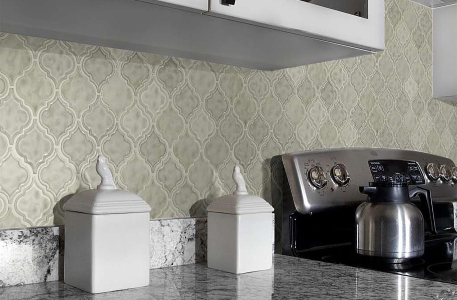 Backsplash Buying Guide: geometric wall tile