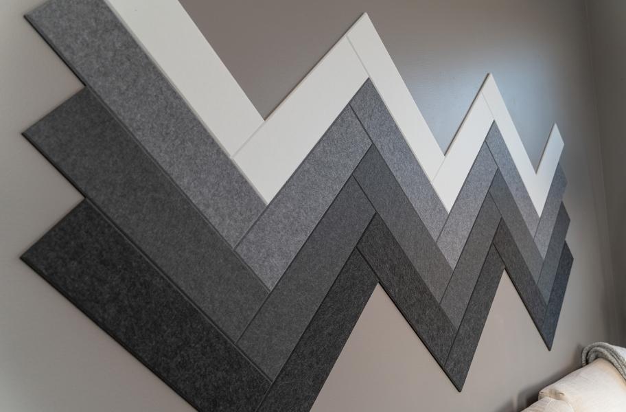 Accent Walls: Felt Right Herringbone Acoustic Wall Tiles