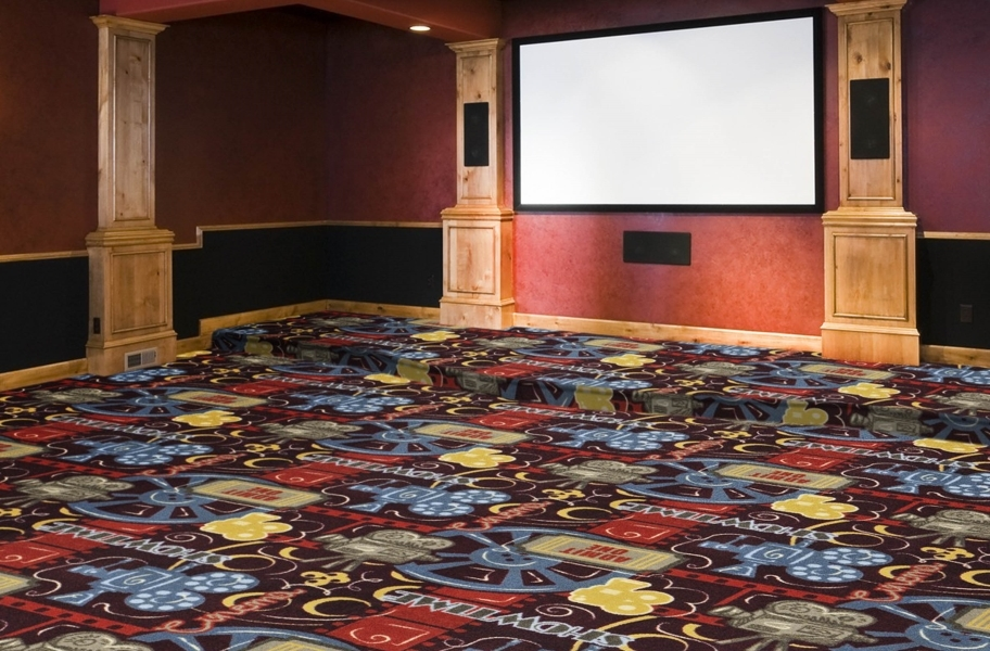 Home Theater Ideas: Joy Carpets Camera Ready Carpet