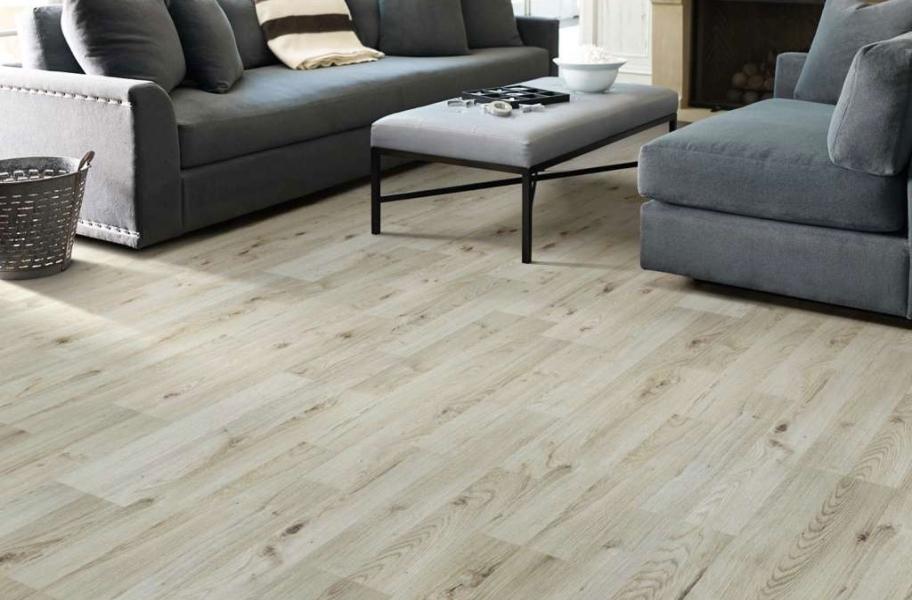 Whitewash Laminate Flooring in a Living room setting.
