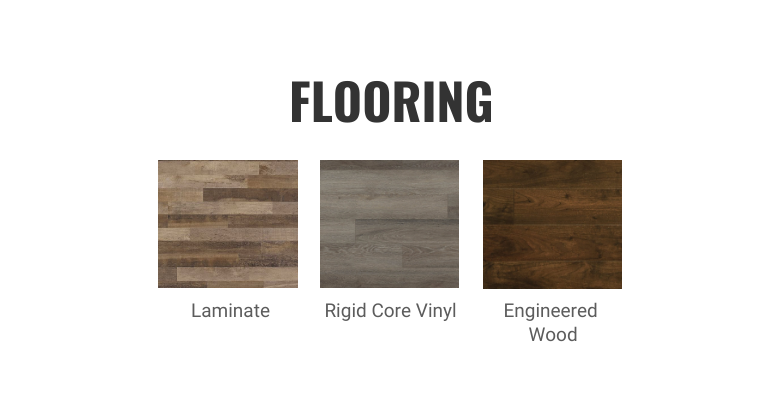 Two-toned kitchen cabinets- Complete the Look- Flooring