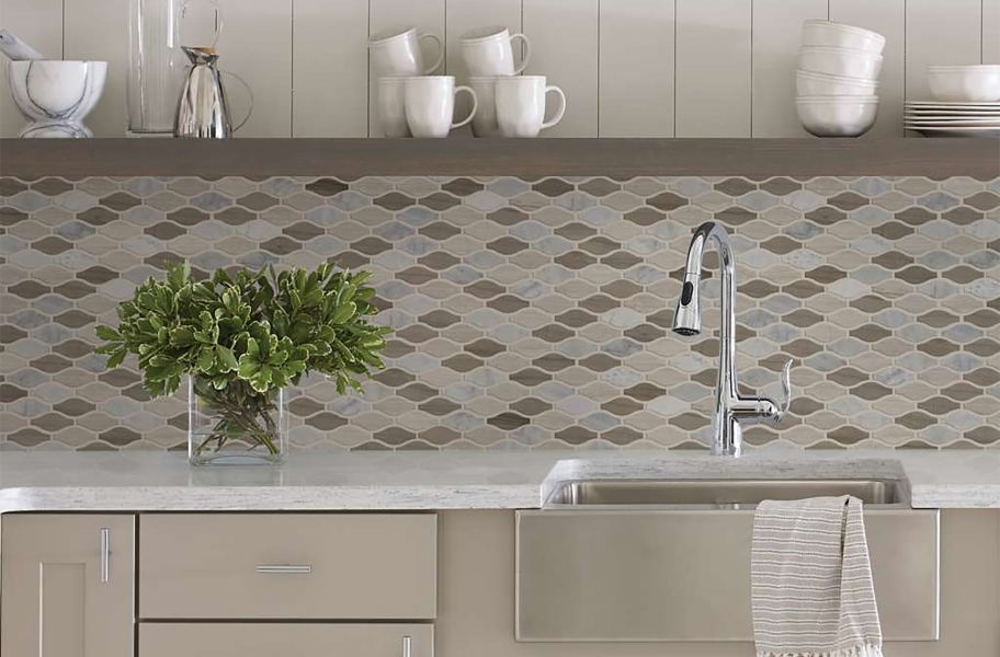 Kitchen Cabinet Trends: Shaw Chateau Natural Stone Ornamentals Tile