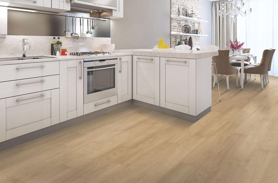White transitional kitchen cabinets
