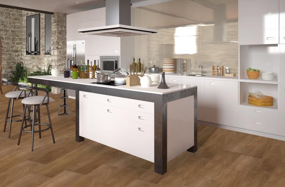 Glossy white kitchen cabinets