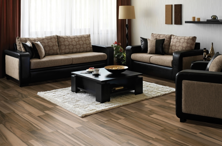Daltile Acacia Valley tile flooring in a living room setting