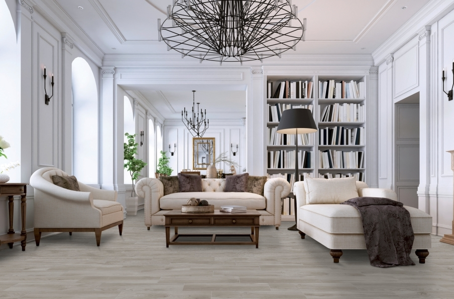 Daltile RevoTile- Wood Visual in a living room setting