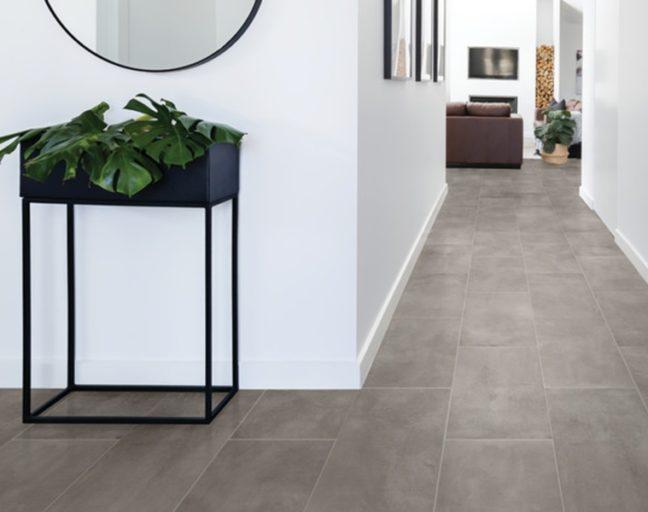 Best Tile Flooring: Daltile RevoTile- Stone Visual in a hallway setting