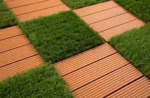 Pet Patio Ideas: Helios Artificial Grass Deck Tiles
