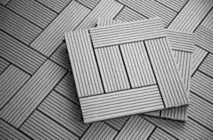 Large Patio: Helios Composite Deck Tiles- 6 Slat