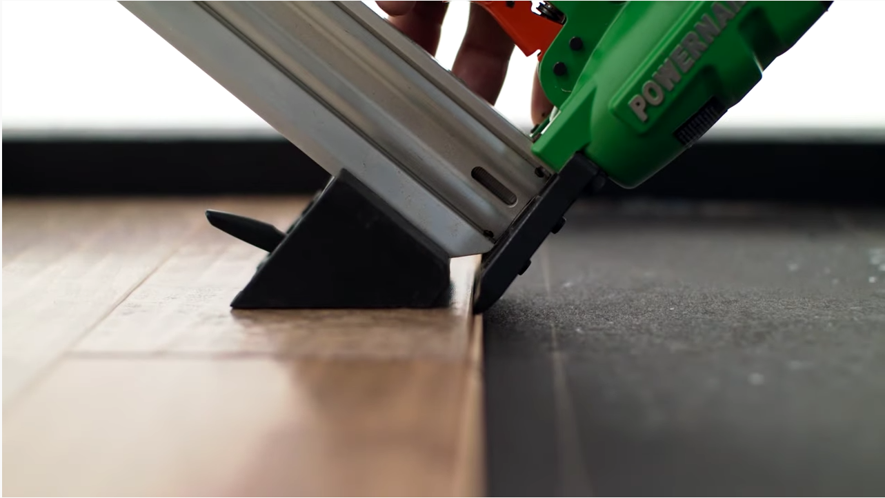 Nail down installation method for engineered hardwood- Shaw Floors