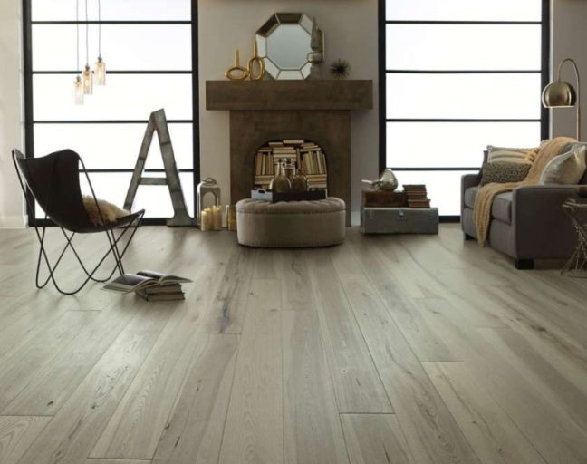 Engineered Hardwood FAQ: Shaw Reflections in a living room setting