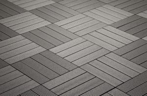 Zen Patio: Helios Composite Deck Tiles (4 slat)