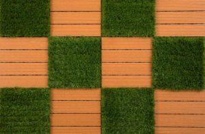Large Patio Inspiration: Helios Artificial Grass Deck Tiles