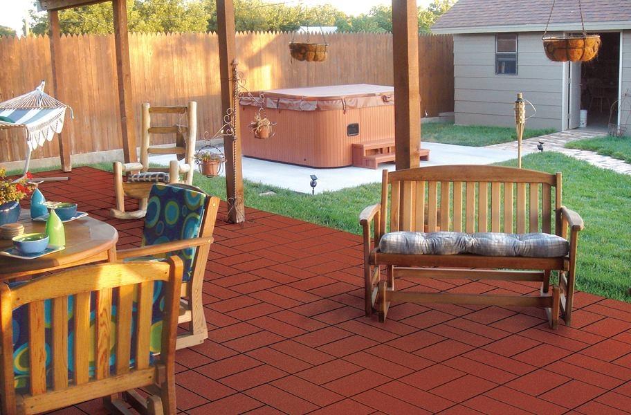 Large Patio Idea: Paver Tiles - West Coast