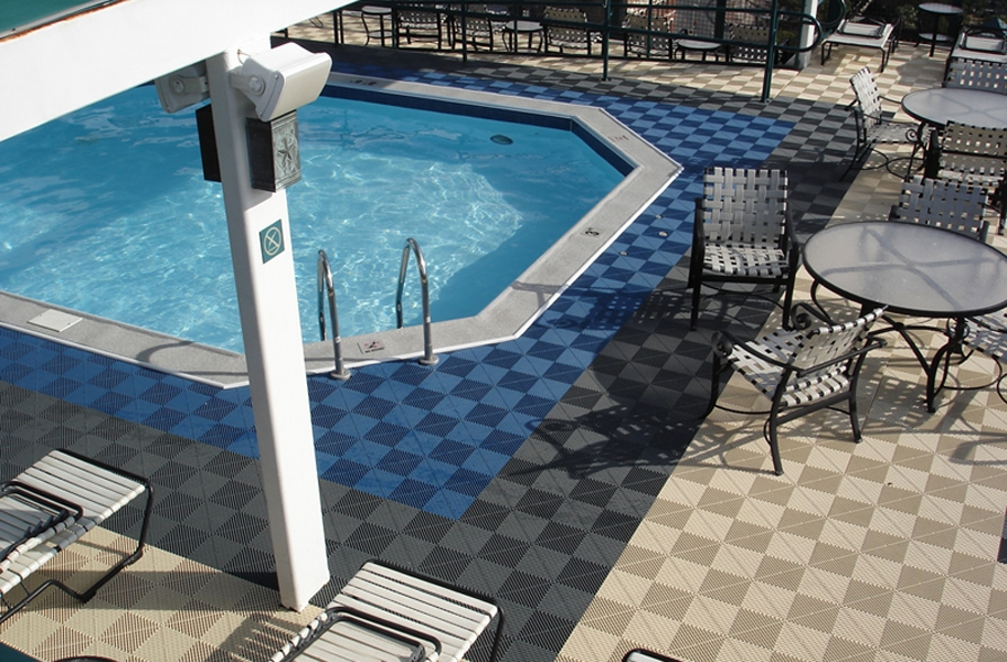 Poolside Patio Makeover: Ribtrax Tiles