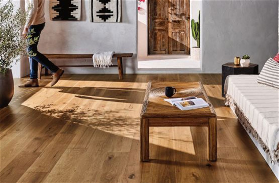 Anderson Imperial Pecan Engineered Hardwood in a living room setting