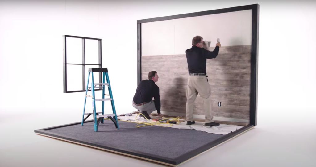 To Install Laminate Flooring On Walls, How To Put Laminate Flooring On Walls