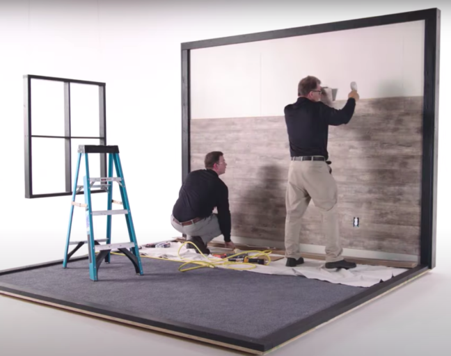 Installing Laminate Flooring on Walls: Installation Applying laminate planks to the wall